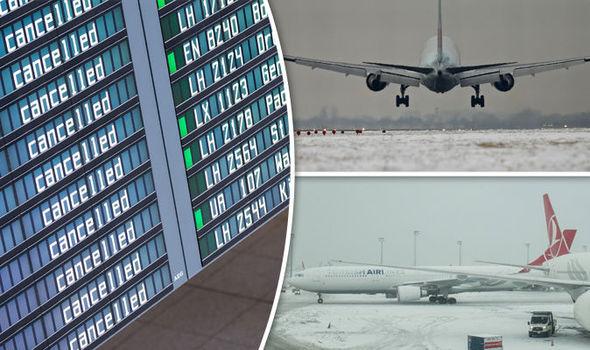 Airport under snow